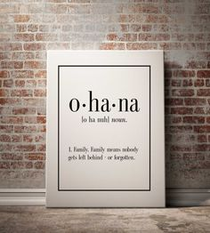 Ohana Lilio And Stitch Art Print Family by BlueBookDesign on Etsy