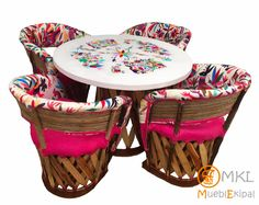 Mexican Home Decor, My House, Picnic, Basket, Home Furniture, Mexican Textiles, Restaurant Bar, Deer, Rustic Furniture