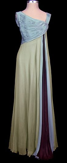 Evening Gown 1965, Made of chiffon