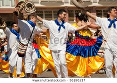 traditional colombian dresses | FRANKFURT - JUNE 26. Colombian traditional dance at the Parade der ...