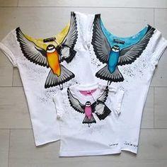 Дизайнерская футболка с ручной росписью - Zacerkovnaya - Dressup.
