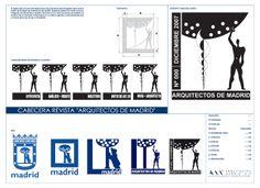 fusión entre el Modulor de Le Corbusier y el escudo del Oso y el Madroño de la ciudad Madrid, nace lo que sería el logotipo de la revista AR...