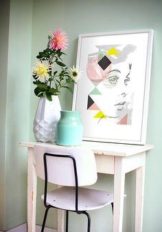 Artprint of the Month #art #print #artprint #design #dutchdesign #illustration #woman #lady #girl #portrait #face #handdrawn #pink #decoration #wall #amsterdam #leendertmeestingrid #designduo #artcouple