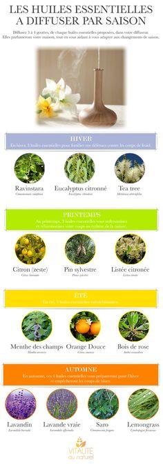 Les meilleures huiles à diffuser suivant les saisons. http://lavieestbelleaunaturel.com/