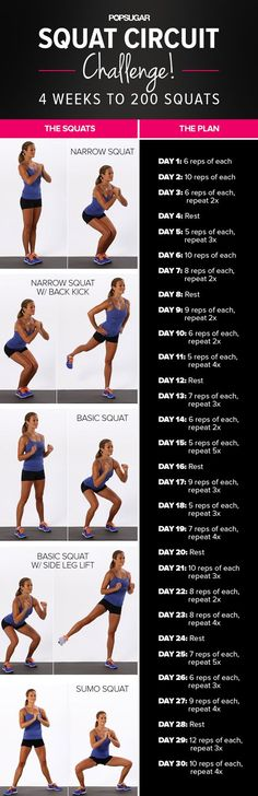 Give your backside some attention and try our four-week squat challenge!  It SERIOUSLY works. Just stick with the program and see results.