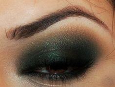 Color Esmeralda - Emerald Green!!! makeup
