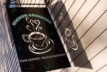 Higher Grounds Cafe - my favorite coffee shop right next to our meeting place!