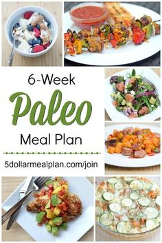 6 Week Paleo Meal Plan ~ this plan is for anyone who is looking to try the Paleo (or Whole30 diet) without breaking the bank | 5DollarDinners.com