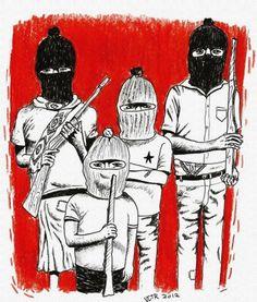 ¡DEMOCRACIA! ¡LIBERTAD! ¡JUSTICIA!  Desde las montañas del Sureste Mexicano.  Comité Clandestino Revolucionario Indígena Comandancia General del Ejército Zapatista de Liberación Nacional. México, en el mes sexto, o sea en junio, del año del 2005
