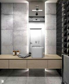 40 Best Basement Bathroom Ideas - Home Decorating Inspiration Grey Bathrooms Designs, Bathroom Interior Design, Modern Bathroom, Small Bathroom, Bathroom Ideas, Bathroom Grey, White Bathrooms, Bathroom Vanities, Bathroom Furniture