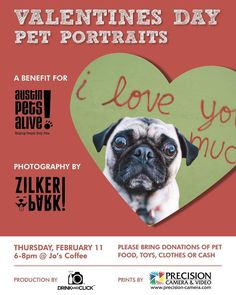 We partner with our friends at @zilkerbark @precisioncamera Jo's Coffee Hotel San Jose  and Austin Pets Alive to create this Pet Valentines session.  Be there next week and bring some donations.  #Austin #ATX #Austin #photography #Texas #travel #donations #fundraiser #beauty #animal #shelter #pets #dogs #cats #donate by drinkandclick