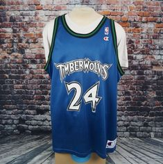 VTG Minnesota Timberwolves Tom Gugliotta Champion Jersey NBA Basketball XXL  52 7cbb4495c
