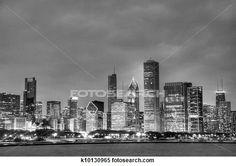 Colección de imágen - HDR, de, chicago, contorno k10130965 - Buscar fotos e imágenes y fotos Clip Art - k10130965.jpg