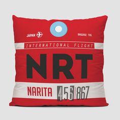 NRT - Narita - airport throw pillow
