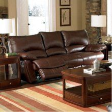 Coaster Clifford Brown Leather Double Reclining Sofa lovin it..