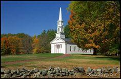 stunning church in full fall colors...