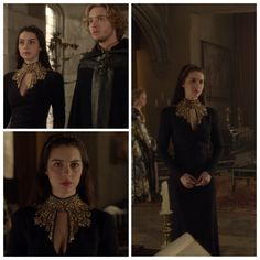 Mary's Black and Gold Dress 1x22: Slaughter of Innocence