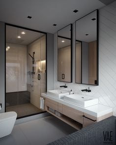 Elegant and Simple Bathroom Storage Ideas in The Next 2019 Innovative bathroom storage ideas for DIY bathroom storage ideas # laundryhomeıdeas the Small Space Bathroom, Modern Bathroom Design, Simple Bathroom, Bathroom Interior Design, Small Spaces, Bathroom Ideas, Bath Design, Shower Bathroom, Bathroom Grey