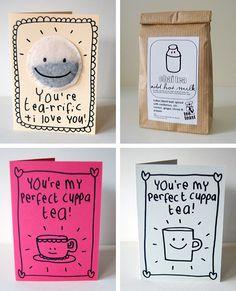 Tarjetas de té
