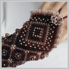 The Lamplight Fingerless Glove Cuff Left hand by FrancescasFancy