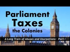 ▶ Parliament Taxes the Colonies (Sugar Act, Stamp Act, Townshend Acts) - YouTube 4th Grade Social Studies, Social Studies Activities, Teaching Social Studies, Ap European History, Modern World History, American History, Teaching Us History, Teaching Time, Virginia Studies