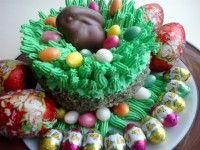Húsvéti nyuszifészek mákos-mandulás Napos Süti-ből