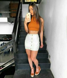 stylish summer outfits to wear now 49 Mode Outfits, Grunge Outfits, Skirt Outfits, Classy Outfits, Casual Outfits, Trendy Fashion, Girl Fashion, Fashion Outfits, Womens Fashion