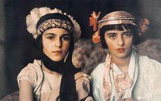 Amrita with her sister Indira (left), circa 1923