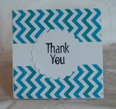 Baby Thank You Cards Pretty Chevron Blue 20 by CardinalBoutique, $25.00