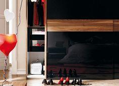 bedroom black wardrobe with sliding doors - Decoist
