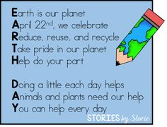acrostic poem idea for Earth Day