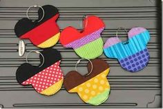 Make your own Mickey Mouse luggage tags.