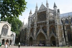 North entrance of Westminster Abbey and St. Margaret's Church (left).