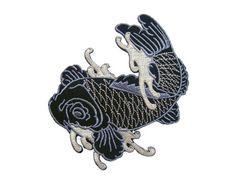 Pesci di koi giapponese tatuaggio pesce ricamato Applique ferro sulla Patch