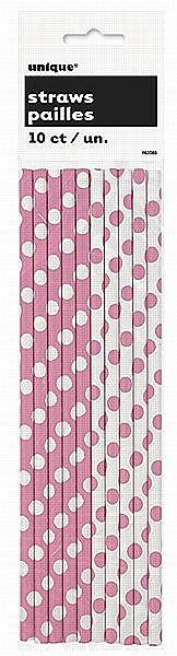 Pink Dots Drinking Straws - PartyWorld Costume Shop Create memories you will never forget with Party Supplies and Party Tableware from Partyworld.ie. Our Cocktail Straws come in a pack of 10 and feature 5 pink straws with white polka dots and 5 white straws with pink polka dots. Our Polka Dot Drinking Straws are the perfect addition to any Party Cups.  Quantity Per Pack: - 10 Pink Dots Drinking Straws. #solidcolour #partysupplies