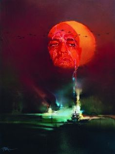 """The awful beauty of Bob Peak's original artwork for """"Apocalypse Now"""" film poster, laid bare and sans typography, 1979."""