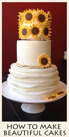 Great Tutorials here for Ruffle Cakes, Smooth Frosting, Making Sunflowers and more.