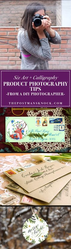 6 Art + Calligraphy Product Photography Tips from a DIY Photographer | The Postman's Knock :: You know that you've got to take professional-looking photos to get your work noticed on platforms like Etsy, Instagram, and Pinterest … but you're not a photographer. What's a person to do? DIY it!