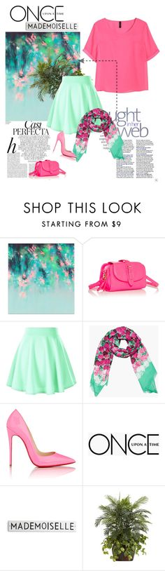 """""""mademoiselle spring."""" by alexiis on Polyvore featuring moda, Whiteley, H&M, JustFab, Marc Jacobs, Christian Louboutin, Once Upon a Time i Nearly Natural"""