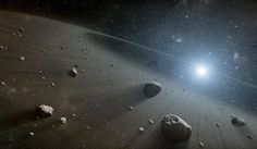 Credit: NASA/JPL-Caltech This artist's concept illustrates an asteroid belt around the bright star Vega. Evidence for this warm ring of debris was found using NASA's Spitzer Space Telescope, and the European Space Agency's Herschel Space Observatory. Sistema Solar, Herschel, Spitzer Space Telescope, Nasa Space, Asteroid Belt, Asteroid Mining, Spiegel Online, Our Solar System, Stars