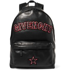 989ef20c6e76 GivenchyAppliquéd Leather Backpack (€1.780) ❤ liked on Polyvore featuring  bags