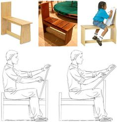 Drawing bench or drawing horse. I love these and need to get or make one.