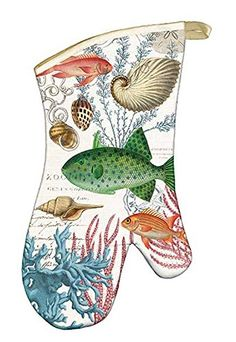 Amazon.com: Michel Design Works Padded Cotton Oven Mitt, Sea Life: Kitchen &…