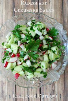 Radish and Cucumber Salad - Real Food Outlaws