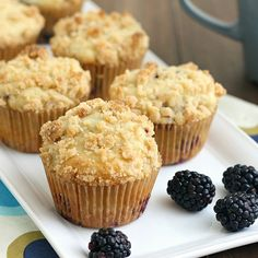 Traceys Culinary Adventures: Blackberry Crumb Muffins