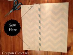 Easy pillow cover DIY. Such an easy way! It's great.