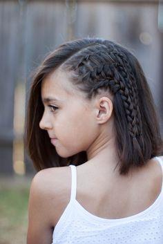 5 Las trenzas para el pelo corto - http://losmejorespeinados.com/5-las-trenzas-para-el-pelo-corto/