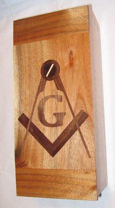 Masonic Gavel box. MasonicWoodworker.com Masonic Gifts, Masonic Symbols, Freemasonry, Making Out, Bottle Opener, Barware, Solid Wood, Shop Ideas, Stars