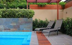 Decorating Modern Small Swimming Pool Ideas Chair