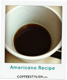 Americano Coffee Recipe